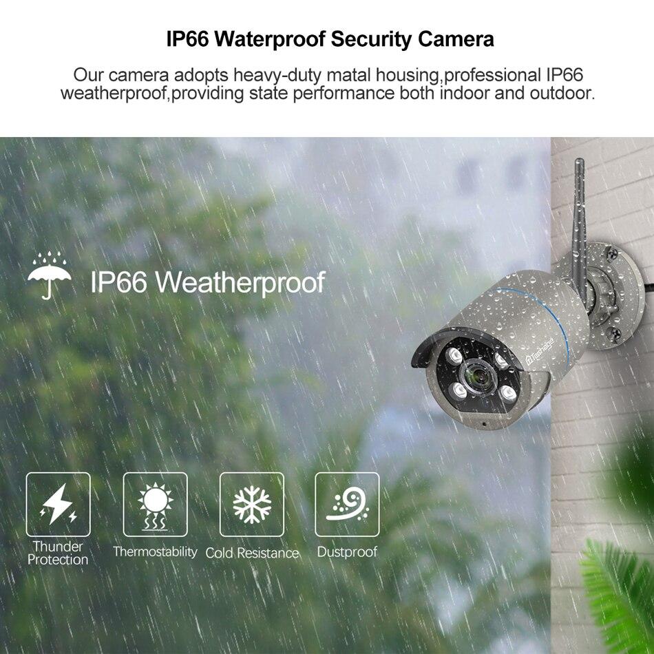 Image 4 - Techage 8CH 1080P Wireless Camera NVR System 4 Array LED 2MP Wifi 2 Way Audio Sound Video Outdoor CCTV Security Surveillance KitSurveillance System   -
