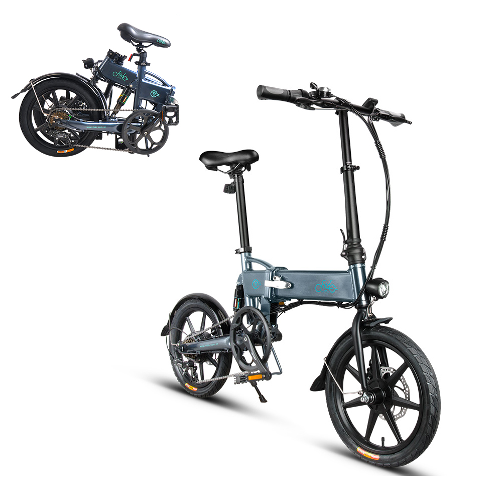 16 Inch Electric Bike For Adults Variable Speed Power Assist Eletric Bicycle Folding Moped E Bike 250W Brushless Motor 36V 7.8AH