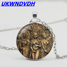 Hot moon goddess crystal pendant necklace fashion alloy sweater chain