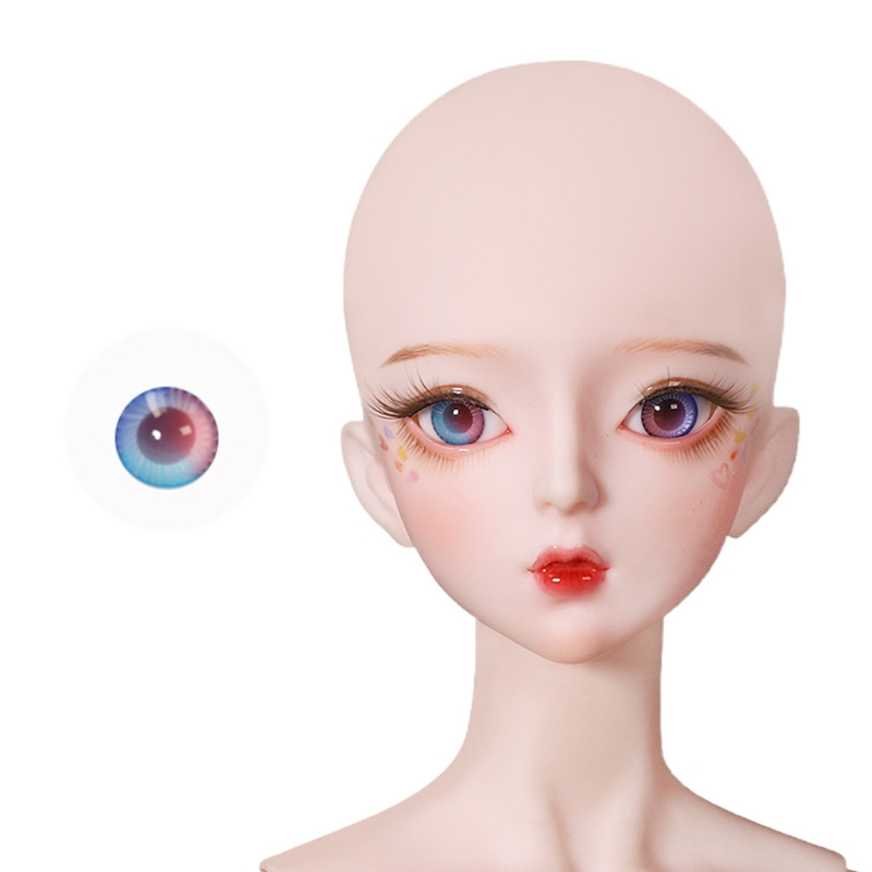 For Bjd Eyeball 14mm Glass Material Green Blue Eyes Suitable For 1/3 1/4 Doll Accessories 11