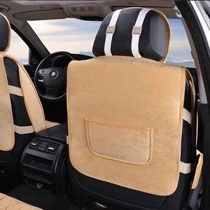 Image 5 - 따뜻한 자동차 좌석 커버 범용 겨울 플러시 쿠션 인조 모피 소재 자동차 좌석 보호대 매트 자동차 인테리어 액세서리