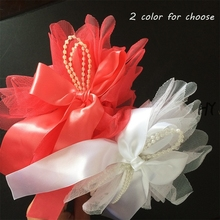 1 Pcs/lot Girls Ribbon Hair Bands Headband Hairbow Hoop With Voile Children Accessories