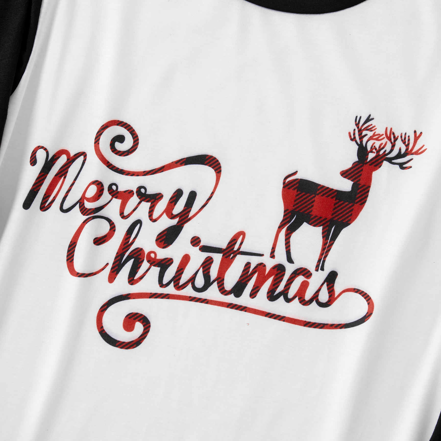 Elk Plaid familia pijamas de Navidad conjuntos de mamá papá y yo ropa de dormir a juego ropa de dormir de aspecto familiar pijamas trajes y sombreros