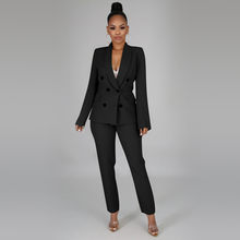crop blazer top belt high waist pant 2019 summer sexy 2 piece co ord set office women suit lady business clothing#g5(China)