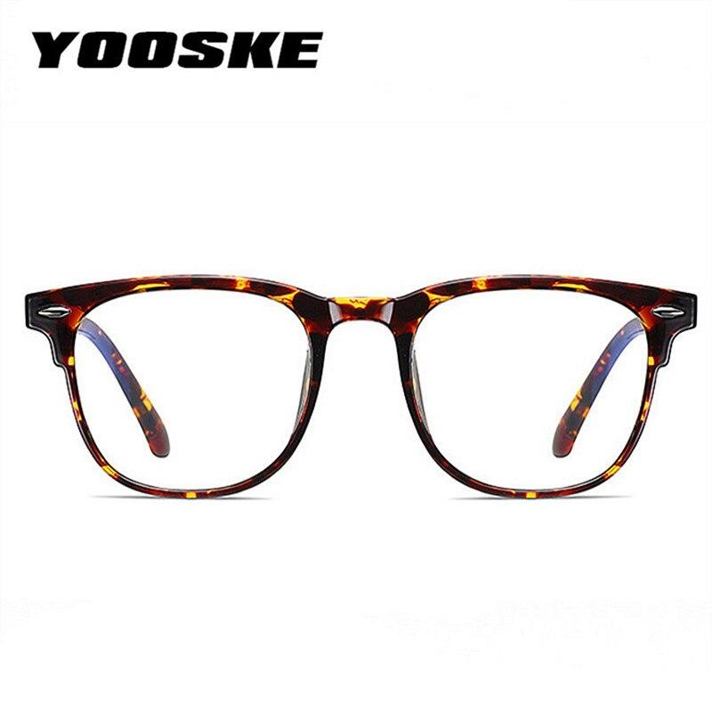 YOOSKE Blue Light Blocking Glasses Frames Women Men Glasses Frame Computer Eyeglasses Vintage Men Spectacles Transparent Frames