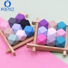 Kovict – perles hexagonales en Silicone, 17mm, 20 pièces, de qualité alimentaire, pour bébé, Dentition pour fabrication de collier, rongeur