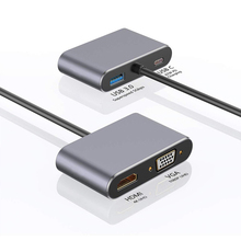 Für Macbook pro Huawei Mate 30 Pro Handy 4 in 1 USB C HDMI Typ c zu HDMI 4K Adapter VGA USB3.0 Audio video Converter PD