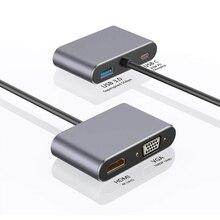 Voor Macbook pro Huawei Mate 30 Pro Mobiele Telefoon 4 in 1 USB C HDMI Type c naar HDMI 4K Adapter VGA USB3.0 Audio video Converter PD