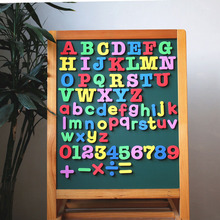 EVA Magnetic Number and Letters  Alphabet Calculating Signs 3D Stickers Colorful Soft Silicon Early Teaching Material DIY