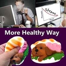 Hamburger Dog Squishy Slow Rising Cream Scented Simulation Toy Decompression Toys Kids