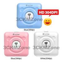Tragbare Bluetooth Tasche Foto Drucker 58mm 304dpi Mini Drahtlose Tasche Thermische Druck USB Impresoras Fotos
