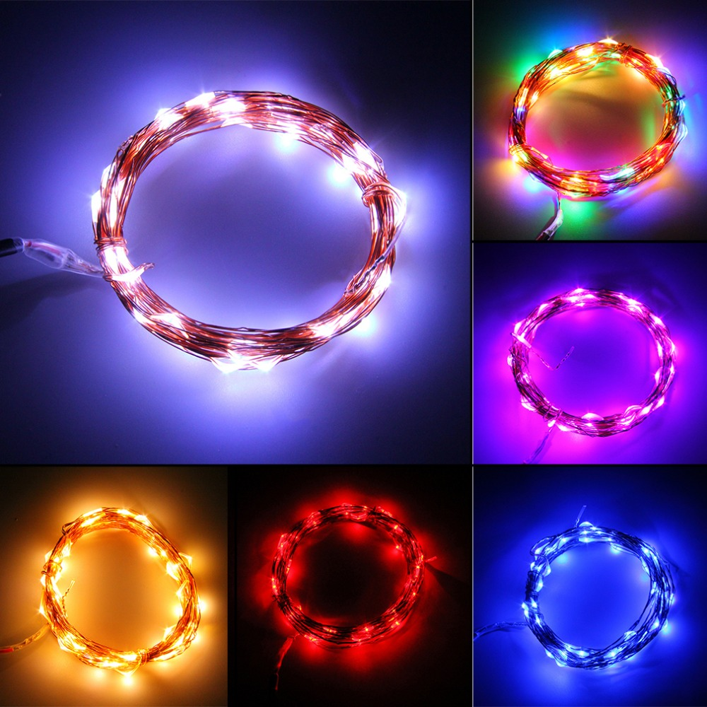 5M 50 LED Copper Wire String Light String Fairy Light Lamp Decoration Light For Christmas Wedding Party Hotel Festival