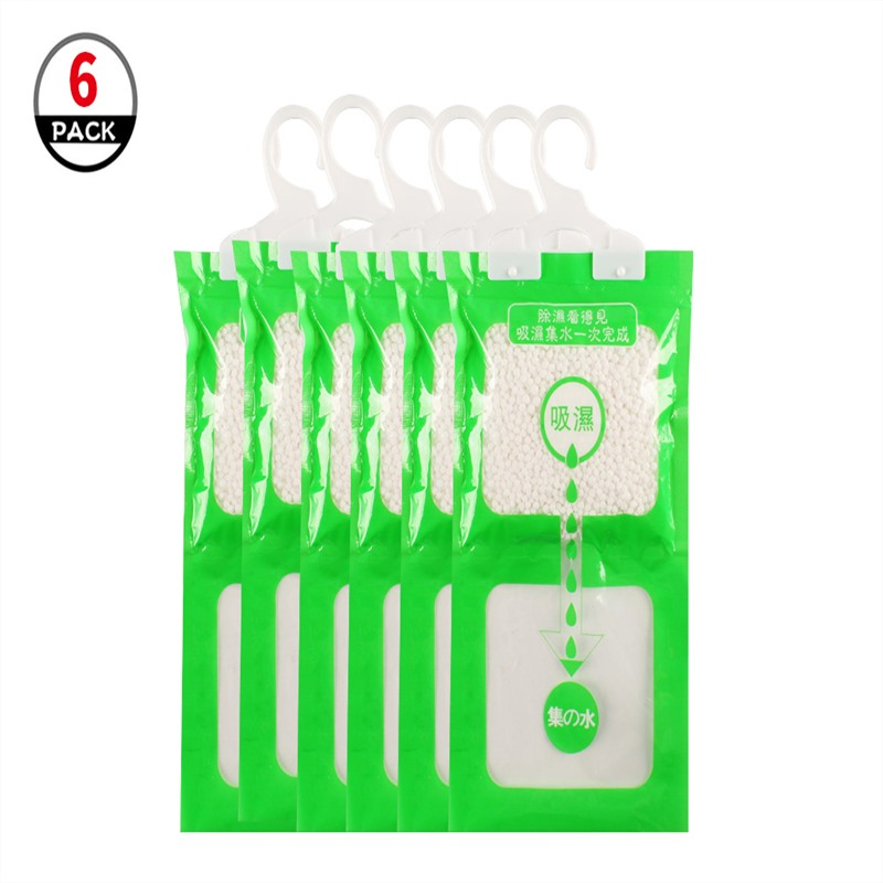 6pcs/set Moisture Absorber Bags Hanging Wardrobe Dehumidifier Bags Mould Mildew Moisture Removers  Closet Cabinet Wardrobe