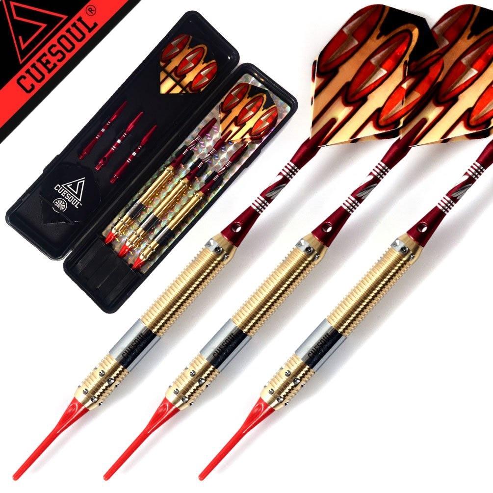 CUESOUL Dragon Series Professional Darts Set 15cm 18g 3PCS/set Soft Tip Dart With Electronic Dardos Points And Red Dardo Flights