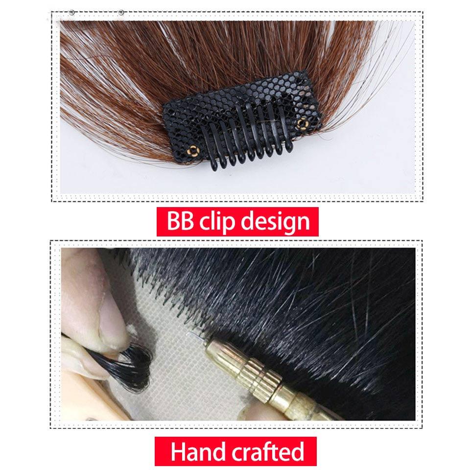 HiDoLAKorean beautiful girl hair extension bangs straight hair wig clip in front clip hair wig headwear in Women 39 s Hair Accessories from Apparel Accessories