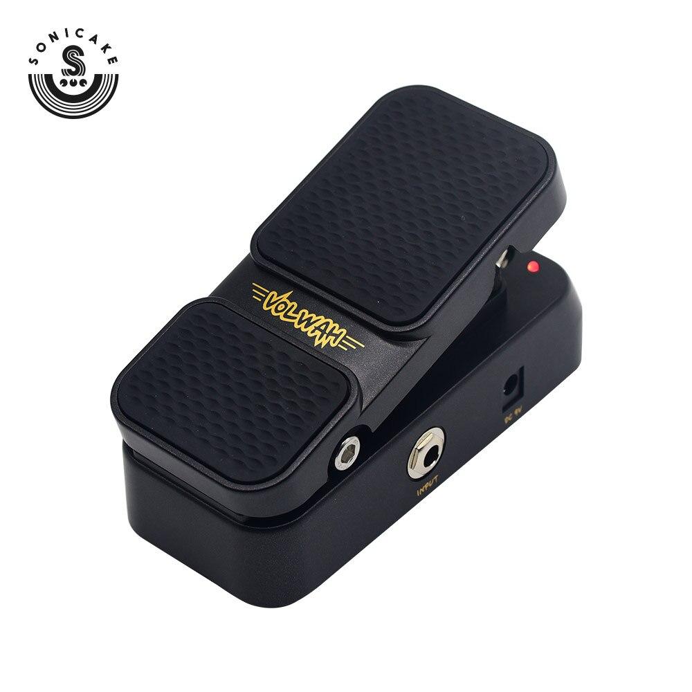 Sonicake 2 в 1 гитарный эффект педали сочетают активный объем и винтажный Wah режим светодиодный светильник показать ножной переключатель QEP-1