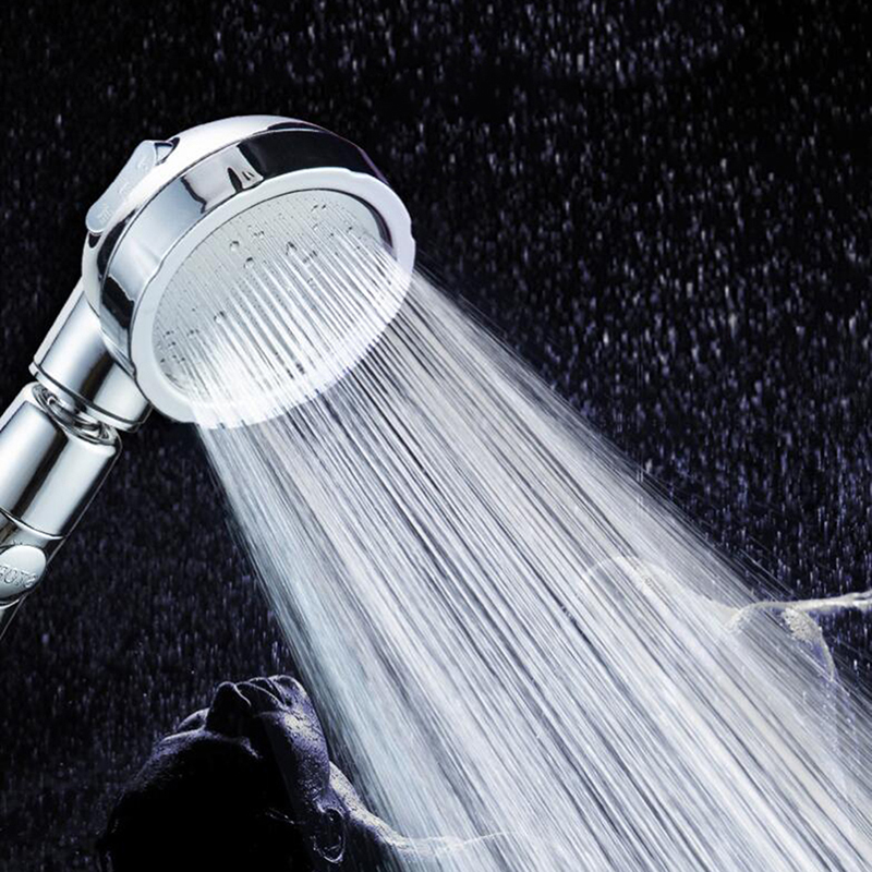 360 Degree Rotatable 3 Modes Shower Head With Water Control Button High-pressure Water-saving Rain Shower Watering Head