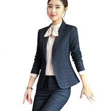 Костюм женский темперамент с длинными рукавами офисный Женский блейзер, брюки большой размер рабочая одежда костюм Femme для беременных