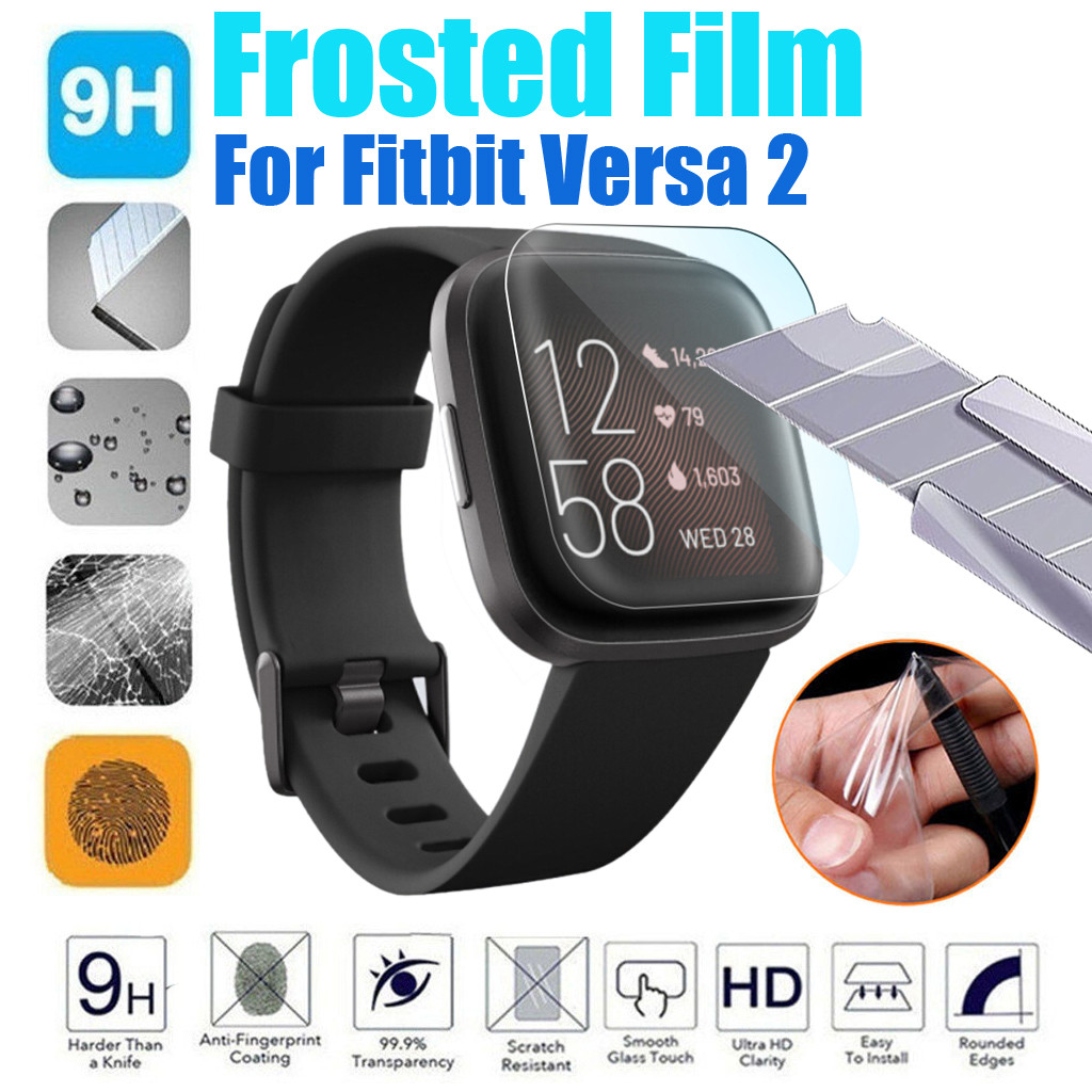Transparent Frosted TPU HD Full Cover Screen Protector Film For Fitbit Versa2 #BO