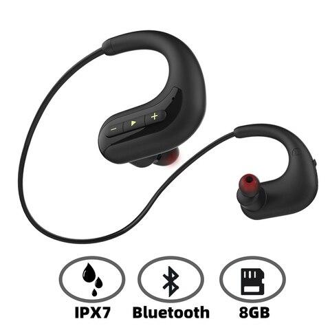 Fone de Ouvido para Natação Água sem Fio Fone de Ouvido Ipx8 à Prova Ariaksen Bluetooth Music Player Dwireless Fones Microfone 8 gb Mp3