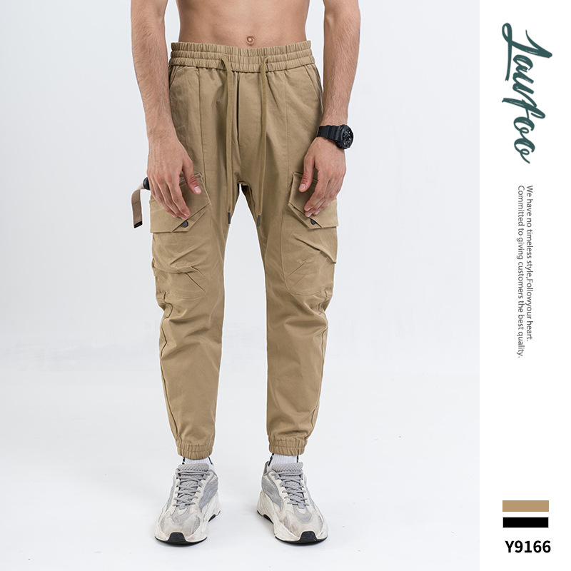 Lawfoo 19a/w New Products Popular Brand Men'S Wear Simple Pocket Joint Couples Casual Pants Skinny Pants Trousers