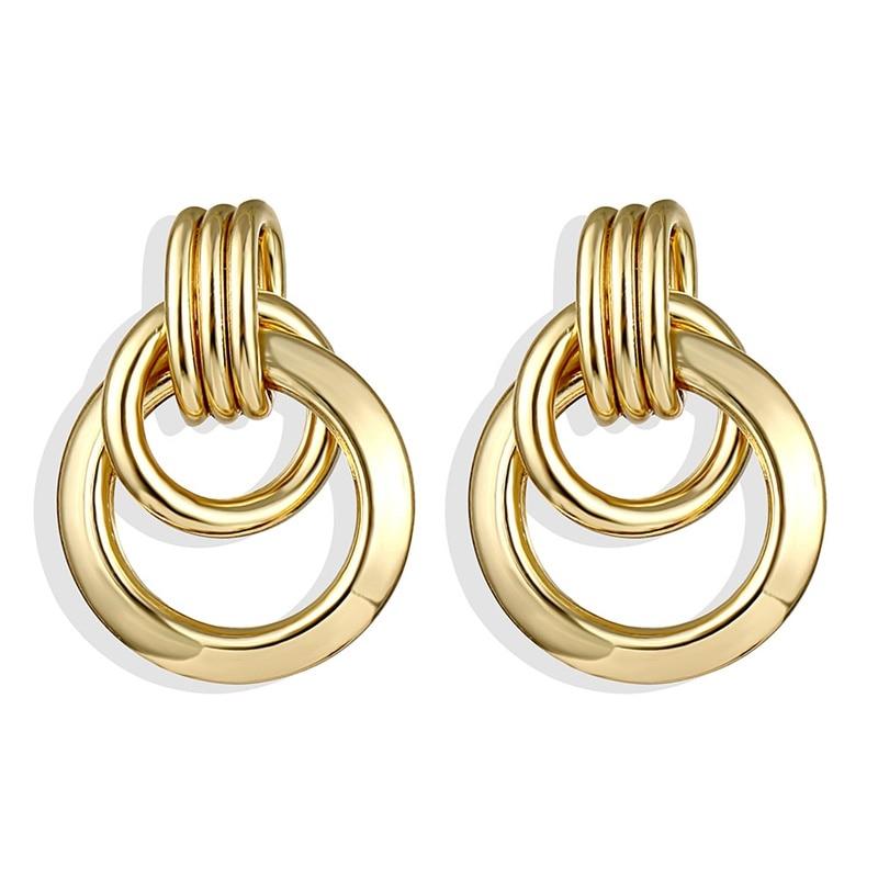 IPARAM, новинка, большие круглые серьги-кольца для женщин, модные, массивные, золотой, в стиле панк, очаровательные серьги, вечерние ювелирные изделия - Окраска металла: IPA0101-1