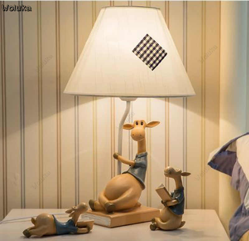 Bedroom bedside lamp table lamp children home warm Mediterranean art Nordic decoration CD50 W07