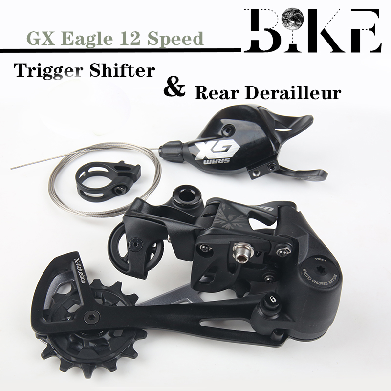 <font><b>SRAM</b></font> <font><b>GX</b></font> EAGLE Groupset Kit 1X12S <font><b>12</b></font> Speed MTB Bicycle Mountain Bike Trigger Shifter Lever Right Side Rear Derailleur Black image