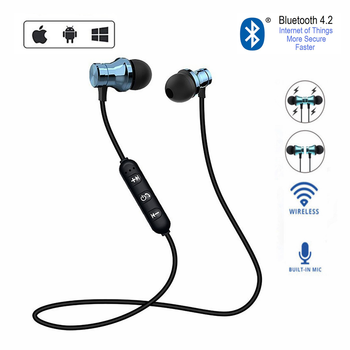 Sports Running Bluetooth Wireless Earphone Magnetic Headset With Mic Active Noise Cancelling Headset for phones and music bass gorsun e12 wireless headphones bluetooth earphone 12h music time active noise cancelling headset for sport