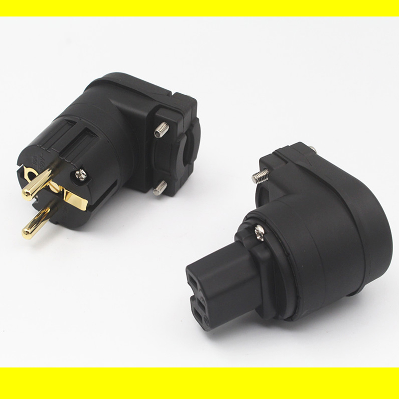 2pcs IEC HIFI Red copper IEC connector US//EU//AU AC power plug