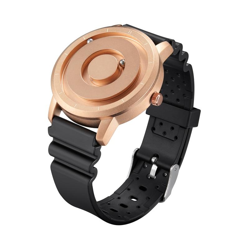 EUTOUR New Innovative Blue Gold Magnetic Metal Multifunctional Watch Men's Fashion Sports Quartz Watch Simple Men's Watch 14