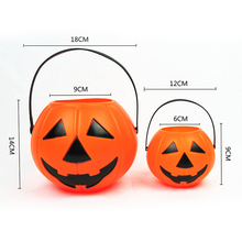 Halloween Candy Cans Childrens Toys Plastic Portable Pumpkin Lights Ghost Festival Decorative Supplies