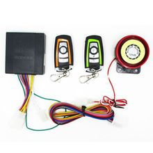 Motorcycle Bike Anti-Theft Remote Control Alarm System Horn Bi-Color
