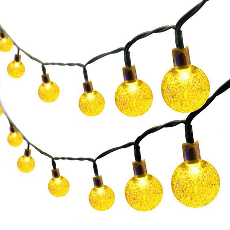 30 Led Ball Led Ring Light Solar Lamp Power Led String Fairy Lights Solar Garlands Garden Christmas Decor For Outdoor