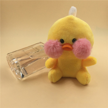 Size 8CM Approx. ,  peluche Animal Plush Stuffed Toys Key chain dolls Lovely Yellow duck Toy Kids Gift N23