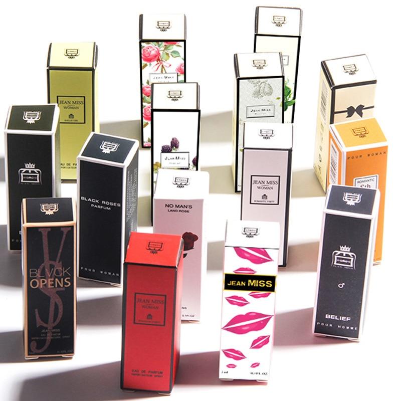 JEAN MISS 3ml Antiperspirant Perfume For Women And Men Atomizer Bottle Glass Fashion Long Lasting Female Parfum Flower Fragrance