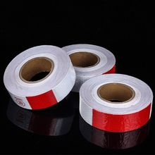Reflective Car Safety Warning Stickers Waterproof Red and White Adhesive Tape