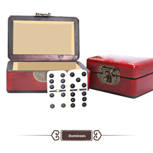 Toy Dominoes-Set Table-Board Games Traditional Ce with Double-Six 28pieces Entertainment