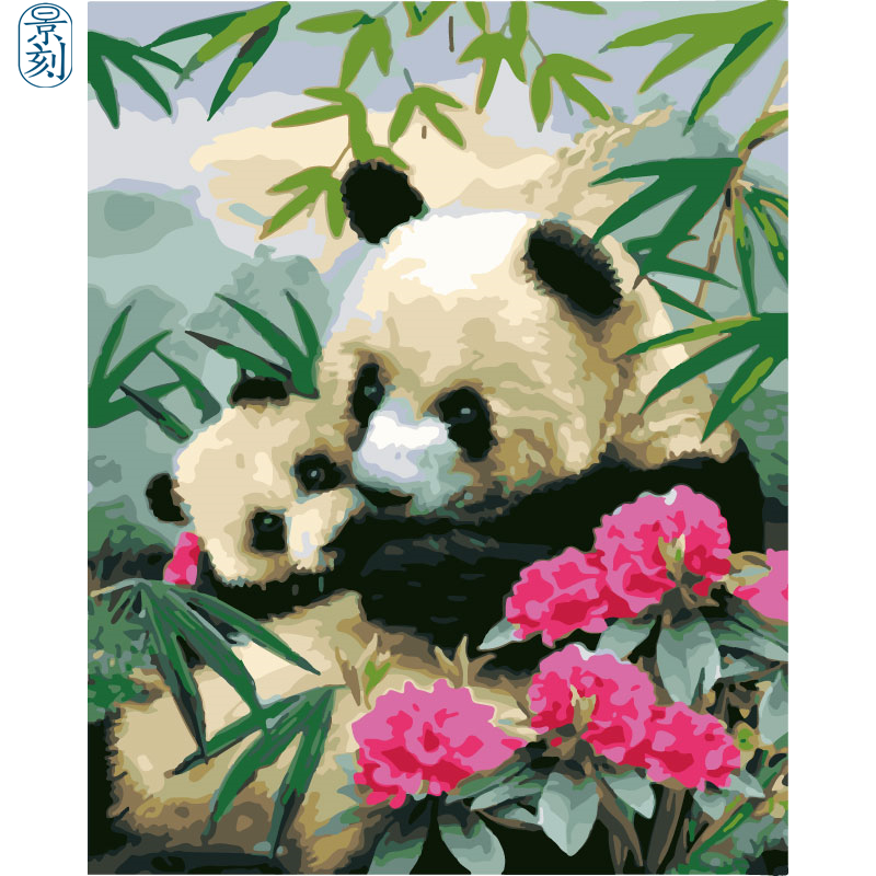 Panda Series.Hand Made Paint High Quality Canvas Beautiful Painting By Numbers Surprise Gift Great Accomplishment