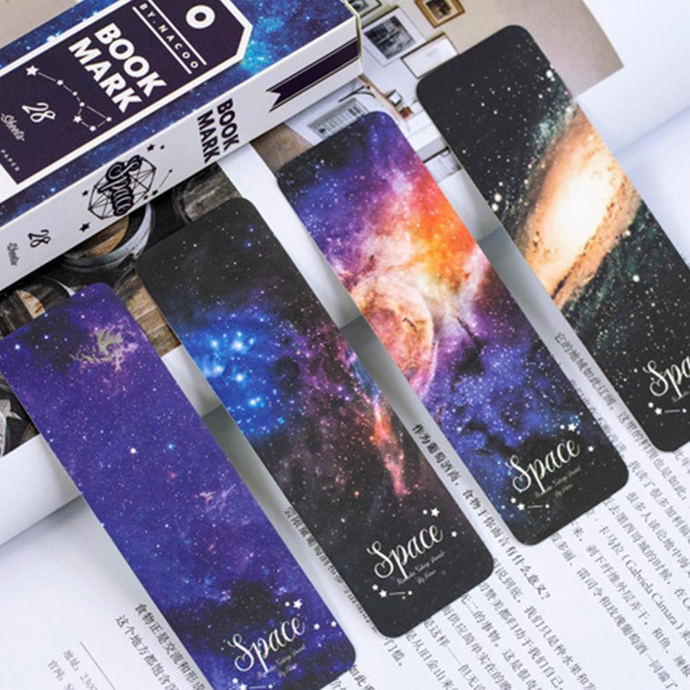 28 Pcs/lot Girl Roaming Space Paper Bookmarks Bookmarks For Books/Share/book Markers/tab For Books/stationery