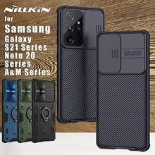 NILLKIN-funda trasera para Samsung Galaxy Note 20 Ultra S21 S20 Ultra Plus FE M51 M31s A71 A51 5G, protección para cámara