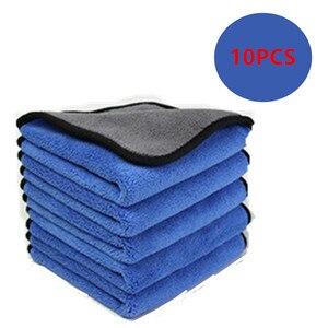 Image 1 - 10Pcs 600GSM 30X60CM Auto Super Microfiber Handdoek Auto Wassen Doek Auto Cleaning Paint Care Handdoek Doeken Auto Wassen Gereedschap
