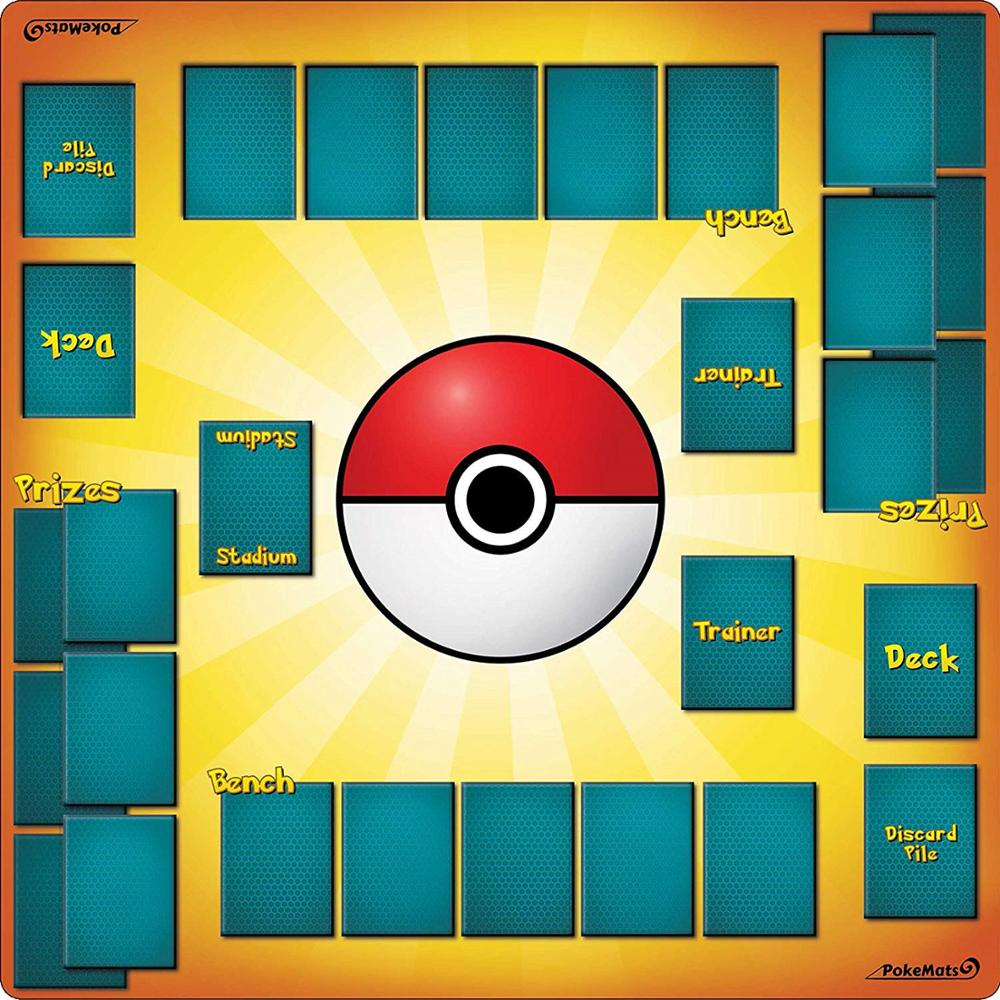 2 Player Pokemon Trainer Playmat - 60 X 60 CM Pokemon Card Confrontation