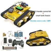 SZDOIT PS2 Gamepad Griff Control Metall RC Crawler Roboter Tank Chassis Kit 2 stücke 12V DC Motor DIY Für arduino Schock Absorbieren Spielzeug