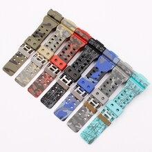 Ремешок резиновый для Casio g-shock GA GLS GD 110 100 120, спортивный браслет с пряжкой с язычком, аксессуары для часов, 16 мм
