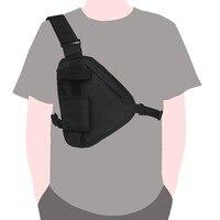 Bolso de pecho táctico Walkie Talkie paquete frontal funda bolsa de pistola colgante Radio EDC cartera funda de teléfono al aire libre bolsa paquete Bolsas de caza    -