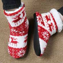 Winter Home Slippers Women House Shoes Fur Slides Furry Slippers Warm Christmas Sock Shoes Floor Shoes Footwear Pantoffels Dames(China)