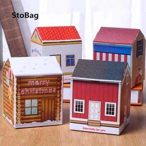 StoBag 20 шт рождественские праздники и вечеринки конфеты шоколадное печенье упаковка еды коробки поставки торта Decoratng ручной работы бумажная ...