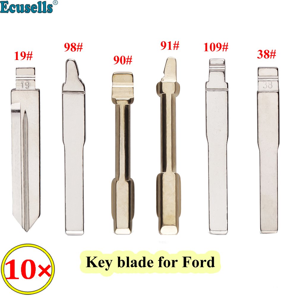 Ключ с откидной крышкой для Ford Fusion Focus Mondeo Fiesta Galaxy 10 шт./лот #19 #38 #90 #91 #98 #109 KD/Xhorse HU101 FO21 FO38