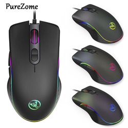 Mysz do gier A867 7 przycisków 6400Dpi mysz optyczna USB przewodowa mysz RGB podświetlana mysz dla graczy komputer stancjonarny
